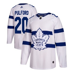 Men's Toronto Maple Leafs Bob Pulford Adidas Authentic 2018 Stadium Series Jersey - White