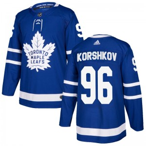 Men's Toronto Maple Leafs Egor Korshkov Adidas Authentic Home Jersey - Blue
