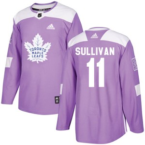 Youth Toronto Maple Leafs Steve Sullivan Adidas Authentic Fights Cancer Practice Jersey - Purple