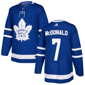 Youth Toronto Maple Leafs Lanny McDonald Adidas Authentic Home Jersey - Blue